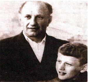Борис Венгровер с сыном Евгением