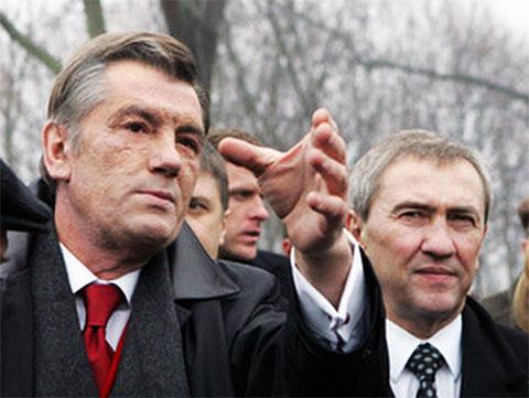 Слева: Президент Ющенко и Леонид Черновецкий