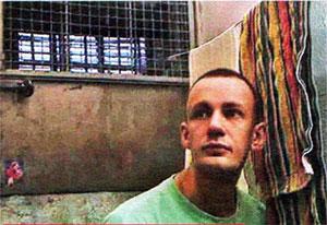 Виктор Корякин в тюремной камере