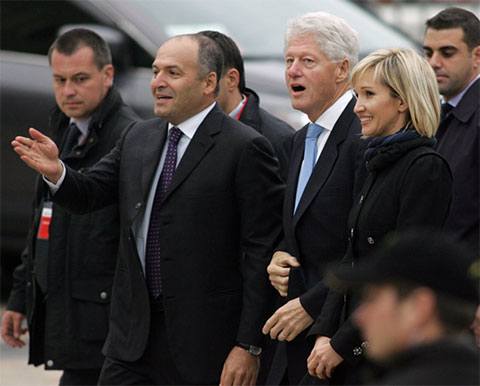 Виктор Пинчук и Билл Клинтон - 2010 год