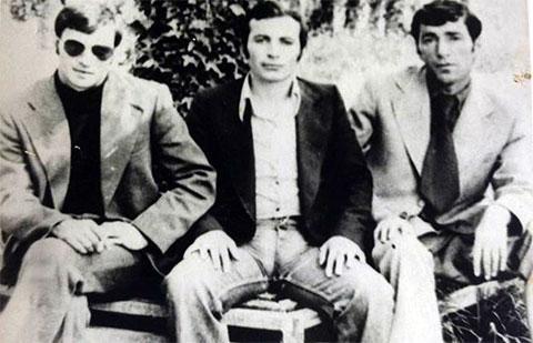 Слева воры в законе: Бадри Дзадзамия, Романоз Булия (Ромео), Геннадий Мебония (Маруси)