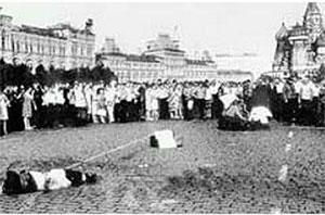 Редкий кадр с места взрыва у Мавзолея 1967 года