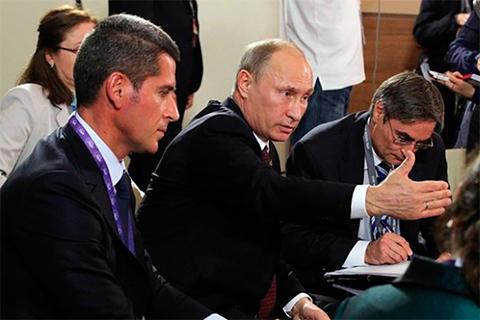 Зиявудин Магомедов и Владимир Путин