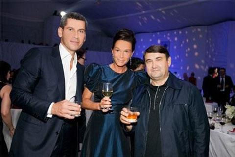 Ольга с мужем и экс-министром транспорта России Игорем Левитиным