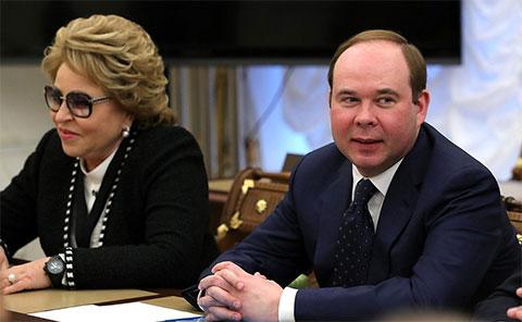 Антон Вайно и Валентина Матвиенко