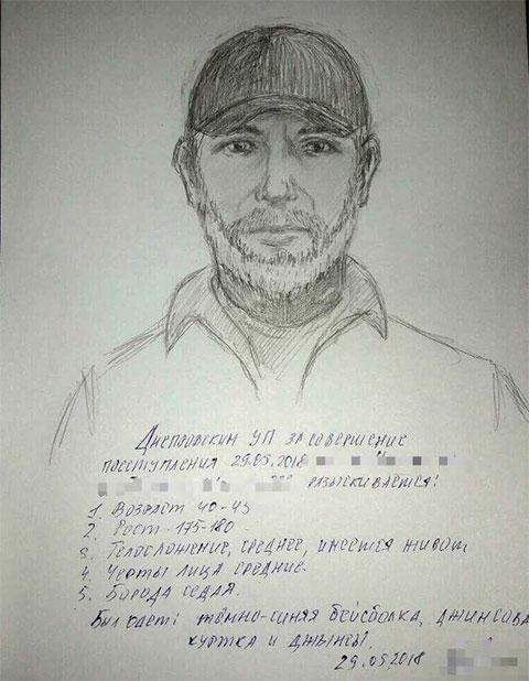 Фоторобот подозреваемого в убийстве Бабченко