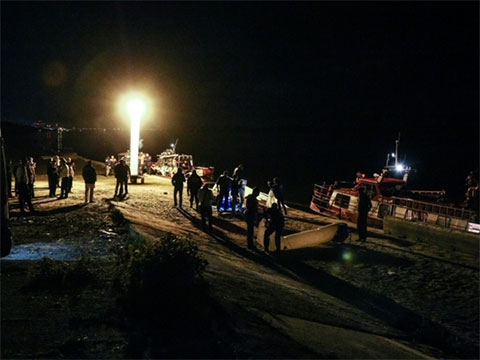 Фото с места трагедии на Волге