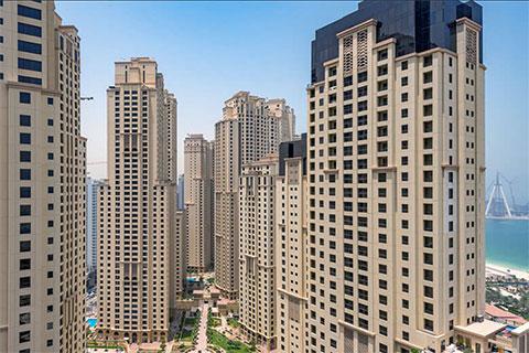Виды из жилого комплекса Trident Grand Residence