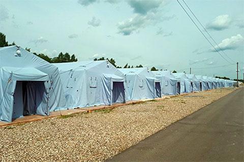 Происхождение палаток, как и их стоимость, пока неизвестны