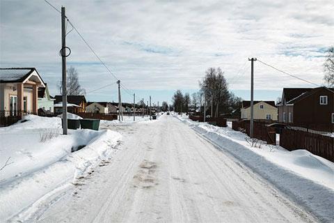 Главная улица, соединяющая Мольгино и Городню