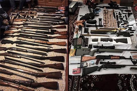 Типичный бандитский арсенал