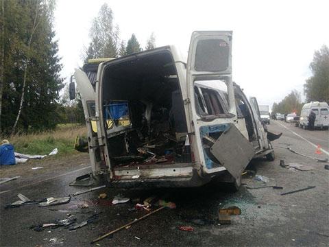 На месте аварии в Тверской области