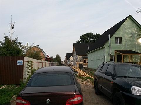 Незаконная постройка домов в Домодедово и паркинг