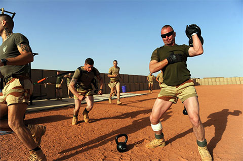 Легионеры во время физической подготовки