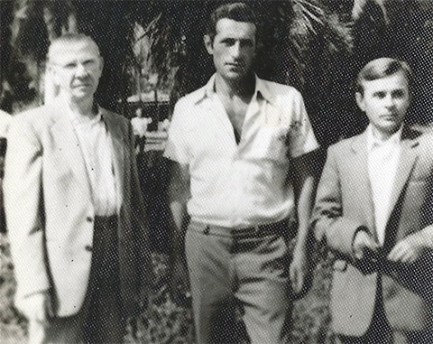 Слева воры в законе: Николай Волков (Коба), Лерман Джанджгава (Беглар) и Юрий Кашинцев (Юрий Палыч)