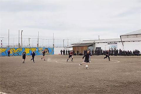 Чемпионат по футболу в одной из колоний