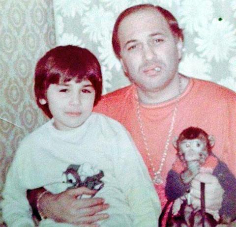Автандил Чихладзе с сыном Гурамом