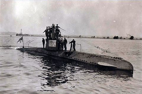 Немецкая подводная лодка времен Первой мировой войны
