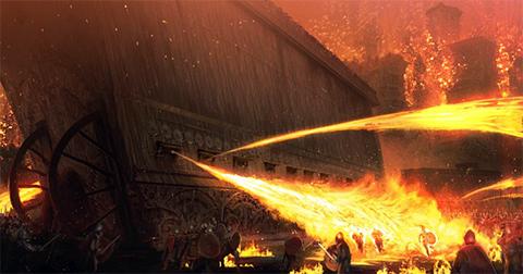Греческий огонь-напалм
