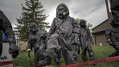 На месте выброса биологического оружия в США