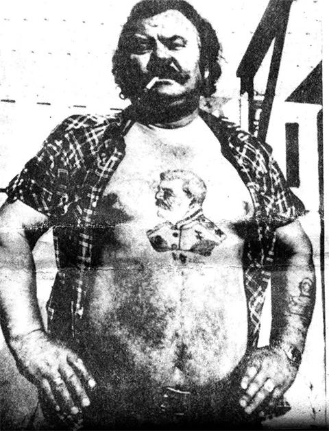 Татуировка Сталина на груди бывшего заключенного