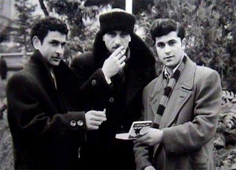Слева воры в законе: Гиви Долаберидзе (Циаго), Арсен Чхаидзе и Альберт Цинцадзе (Михо)