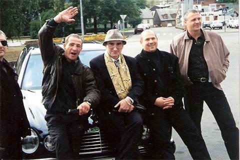 Слева воры в законе: Зураб Шамугия (Аду), Геннадий Дубровенко (Гоша Лиепайский) и Роланд Гегечкори (Шляпа), Латвия