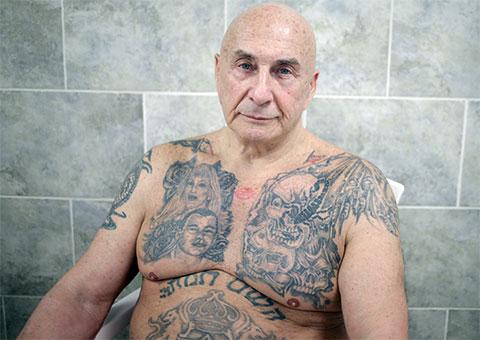 Криминальный лидер Борис Найфельд и его татуировки