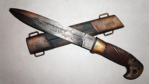 Нож, сделанный в колонии Златоуста в 1935 году