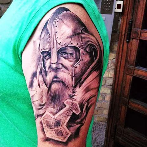 Татуировка викинг (фото)