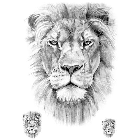 Эскиз льва для татуировки