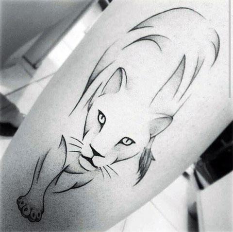 Эскиз львицы для татуировки