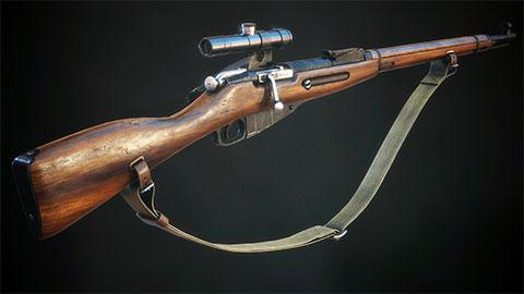 Снайперская винтовка Мосина фото