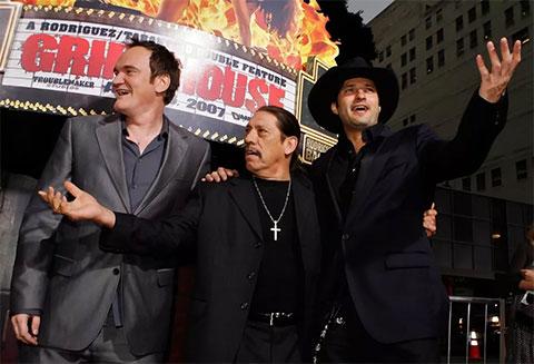 Слева: Квентин Тарантино, Дэнни Трехо и Роберт Радригес