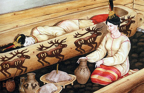 Реконструкция погребения «Алтайской принцессы»