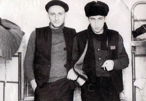 Слева воры в законе: Тариел Микава (Кеме) и Тариел Качарава (Тарас)