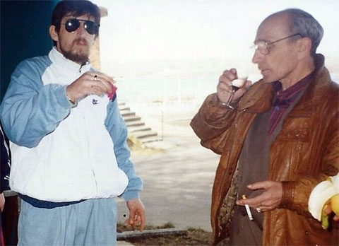 Слева воры в законе: Тариел Качарава (Тарас) и Илья Абакелия (Туту)