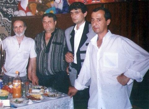 Слева: Юрий Багдасарян (Амбалик), Николай Чернышев, Гайк Никогосян (Айко), Гурген Арутюнов