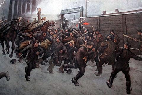 Разгон демонстрантов в 1905 году в Москве