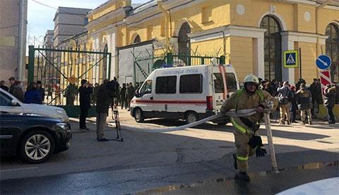 Взрыв в военной академии в Петербурге