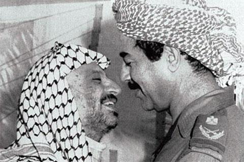 Саддам Хусейн и Ясир Арафат