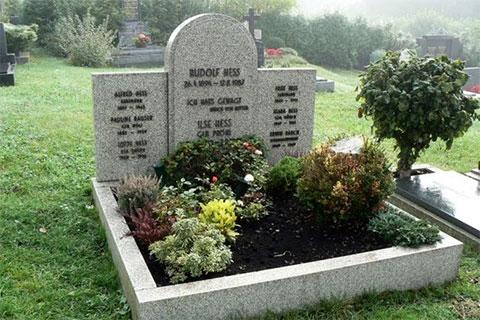 Старая могила Рудольфа Гесса
