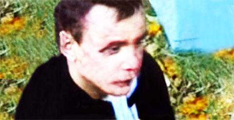 Главарь банды Александр Титов во время задержания