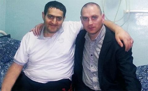 Арсен Мкртчян (Арсен Ереванский) и Виталик Салтын в палате Института им. Склифосовского