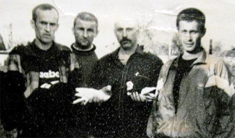 Слева воры в законе: 1) Анатолий Ислентьев (Ислентий), 3) Борис Красиловский (Боря Душанбинский), 4) Евгений Дмитриев (Женя Азиат)