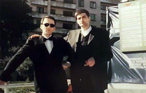 Слева воры в законе: Малхаз Сихарулидзе и Мамука Цискаришвили (Кио)