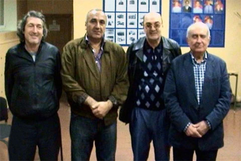 Слева воры в законе: Теймураз Джалагания (Чинчхлия), Тариел Ониани (Таро), Тамаз Корошинадзе (Тамаз), Гурам Чикаберидзе (Чика)