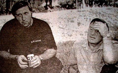 Слева: криминальный авторитет Владимир Вдовин (Напарник) и глава администрации Центрального района Тольятти Анатолий Степанов