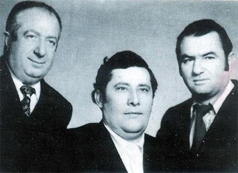 Слева воры в законе: Обон Ереванский, Рафаэл Багдасарян (Сво Раф), Маелс Мкртчян (Кндо Маис)