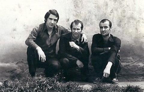 Слева воры в законе: Авто Глонти, Гурам Баланов и Бесик Кориаули